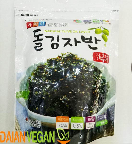 Rong biển vụn ăn liền Hàn Quốc dầu oliu Đại An