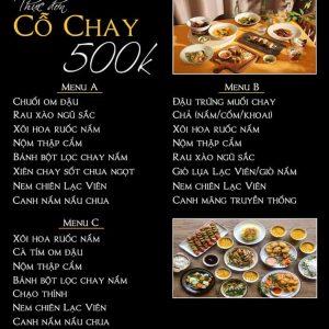menu 500k
